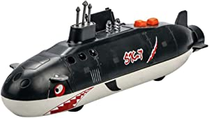 Alloy Shark Submarine Toys Military Ships Warships Back to Sound and Light ,Model boy Toys