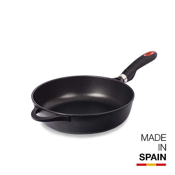Valira Black - Sartén Premium de 24 cm honda hecha en España, aluminio fundido con antiadherente reforzado, apta para inducción: Amazon.es: Hogar