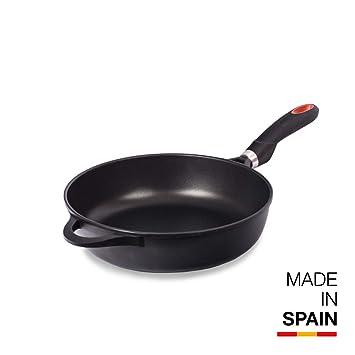 Fondo Full Induction Negro Magefesa Astro Chef Sart/én 24 cm de Aluminio Forjado Mango Profesional Acero Inoxidable