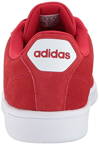 adidas Mens CF Advantage Sneaker Scarlet/White/Matte Silver fEsnQ9