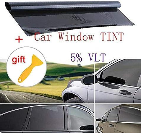 "VLT 20/% Uncut Roll 20/"" x 15FT Window Tint Film Charcoal Black Car Glass Office"