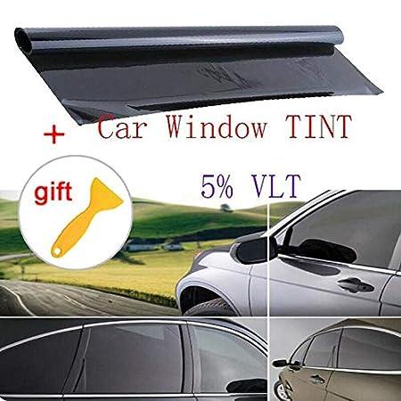 BonTime Pellicola per vetri oscuranti per vetri per Auto Tinting Super Dark Black Film 5/% 100cm * 50cm