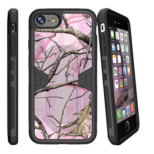 MINITURTLE Case Compatible w/ iPhone 7 Plus [ Apple iPhone 7 Plus | iPhone 7s Plus] Combat Shockguard, Hard Sleek Pink Hunters Camouflage