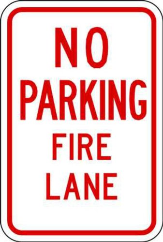 ZING 2204 Eco Parking Sign, No Parking Fire Lane, 18Hx12W, Engineer Grade Prismatic, Recycled Aluminum ()