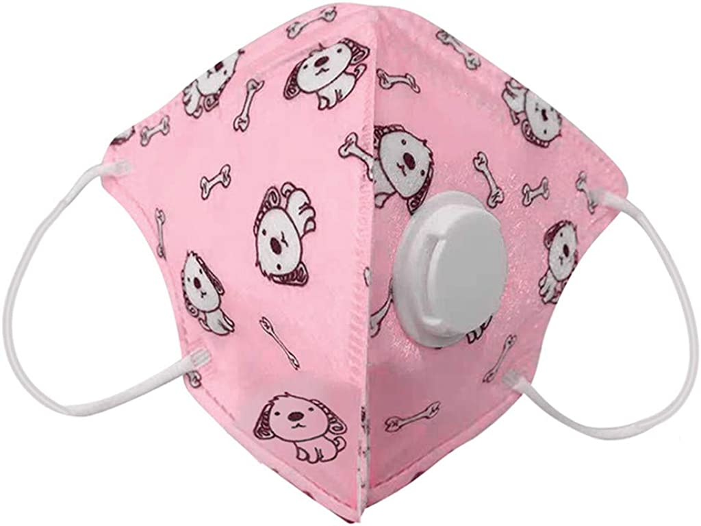 Reusable Cotton Cover with Breathing Valve Washable Cotton Cloth Ear Loops Health Protection Suitable For Children Kids