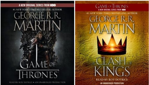 George R. R. Martin Song of Ice and Fire Book 1, 2 Audiobook : A Game of Thrones (HBO Tie-in) , A Clash of Kings (HBO Tie-in) [Audiobook] [Audio CD] George R.R. Martin