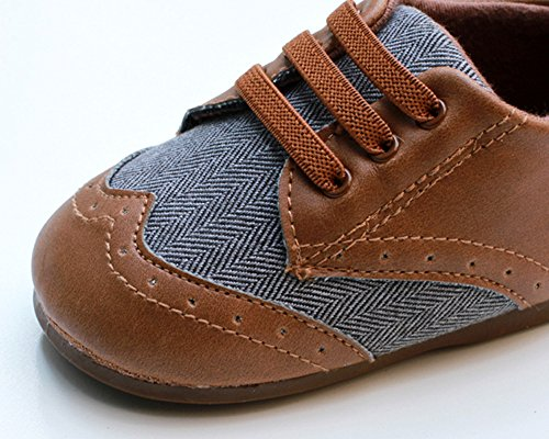 Pictures of Kuner Baby Boys Brown Pu Leather +Canvas Brown 4
