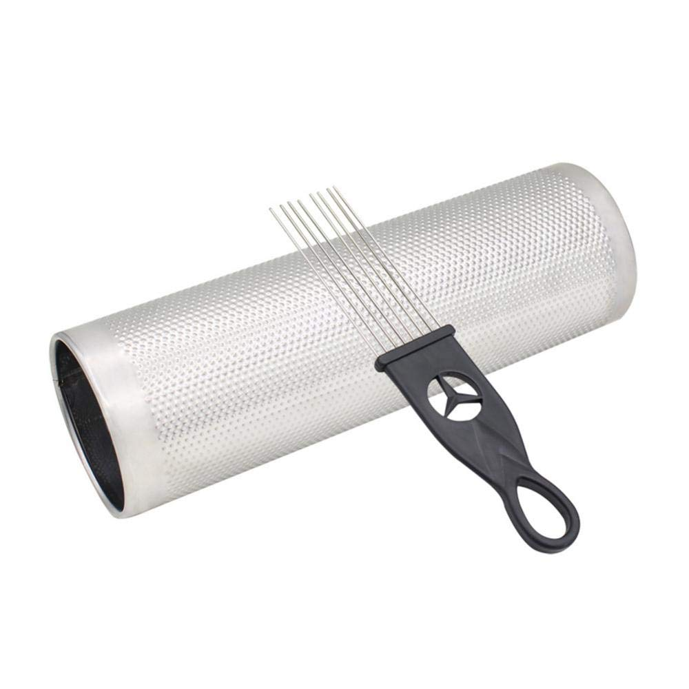 Stainless Steel Metal Guiro, Musical Latin Percussion Instrument Accessory