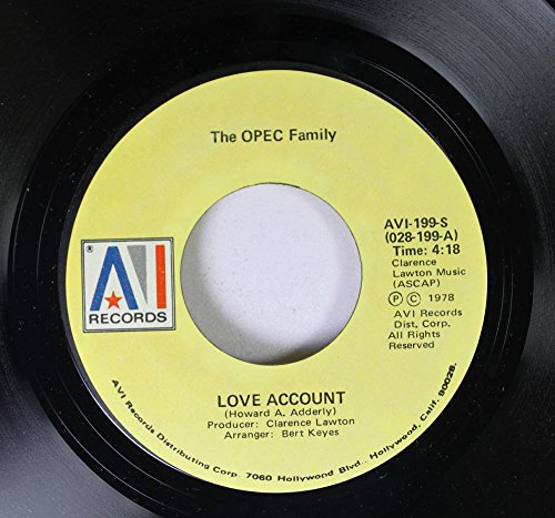 The OPEC Family 45 RPM Love Account / Get up and do the Boogie