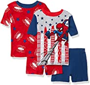 Marvel Big Boys' Spiderman 4-Piece Cotton Pajama Set