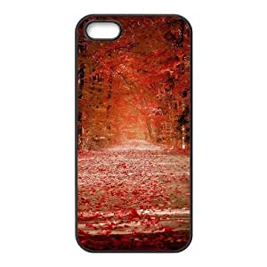 good Autunm crimson fallen leaves forest trail cell phone DRLHB9PpbIL case cover for iPhone 6 plus