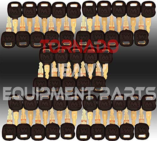 Tornado Heavy Equipment Parts Fits 5P8500 Caterpillar Master Ignition Keys50 Pack