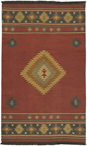 (Surya Jewel Tone JT-1033 Flatweave Hand Woven 100% Wool Maroon 2'6