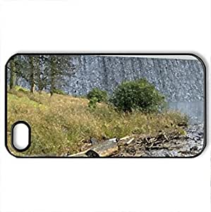 falls over reservoir damn - Case Cover for iPhone 4 and 4s (Watercolor style, Black)