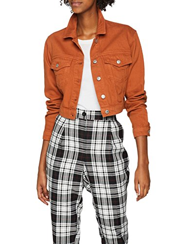 Crop New Mid 24 Blouson Look Contrast Brown Brown Femme YYxAWn1657
