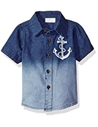 Rosie Pope baby-boys Baby Ombre Button Down Shirt