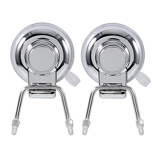 DYJ Suction Cup Hooks Holder - Super Strong Suction Cup Hook -Removable Bathroom Shower Towel Hook Kitchen Wall Hook Strong Vacuum Stainless Steel Suction Cup Hook ,Set of 2