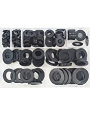Nylon Large Flat Round Washer Countersunk Clear Plastic Spacer Thickness Gasket Ring Standard Hardware Tool Fastener for Screw Assortment Kit 240pcs M5 M6 M8 M10 M12 M14 M16 M18 M20 Black