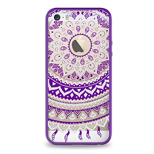SmartLegend Mandala Pattern Transparent Protective