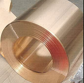 Raw Materials  1X Copper Beryllium Alloy BeCu C17200 Foil Sheet 0.5mm 200mm 2000mm #ML48 QL