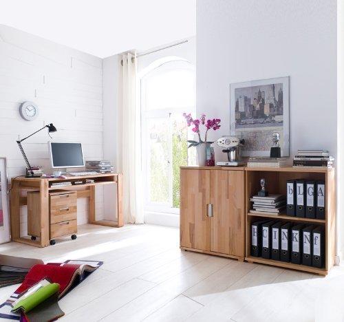 Büromöbel Set 4-tlg »ENCO« Kernbuche massiv geölt günstig
