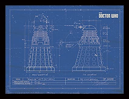 2f9a823a9a7 Amazon.com  iPosters Doctor Who Dalek Blueprint Framed 30 x 40 ...