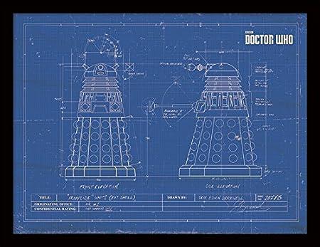 Doctor who 30 x 40 cm dalek blueprint framed print amazon doctor who 30 x 40 cm dalek blueprint framed print malvernweather Images