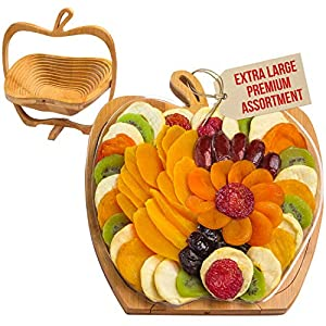 Best Epic Trends 51mYQBYjqmL._SS300_ Dried Fruit Gift Basket – Healthy Gourmet Snack Box - Holiday Food Tray - Variety Snacks - Great for Birthday, Sympathy…