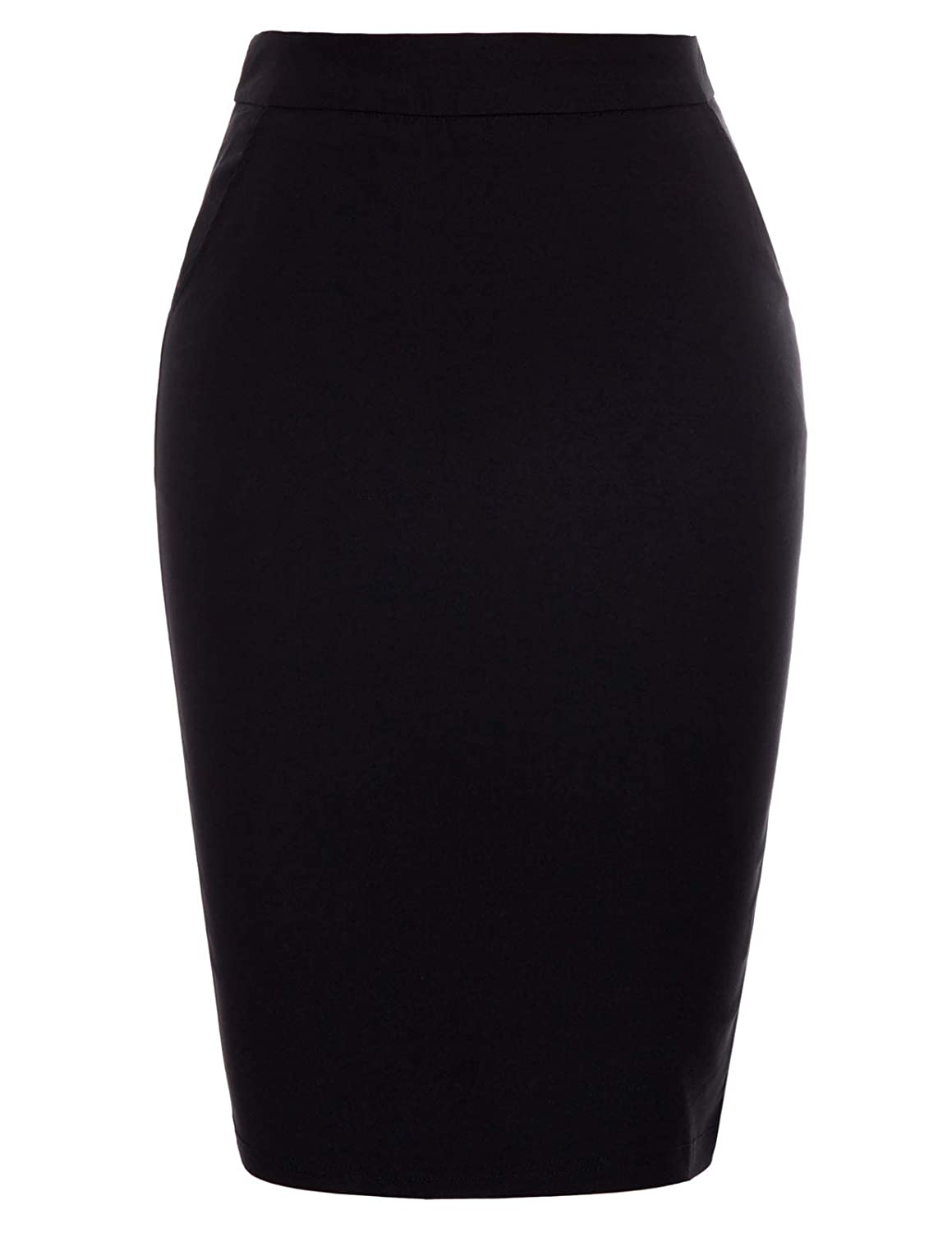 a566c7c2d13 Kate Kasin Women s Stretchy Cotton Pencil Skirt Slim Fit Business Skirts at Amazon  Women s Clothing store