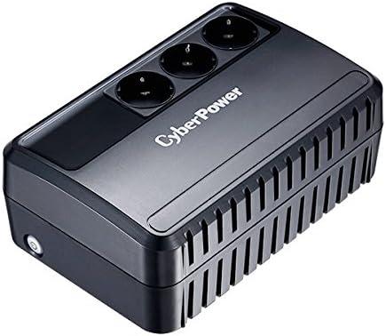 CyberPower BU650E USV 650VA/360W Línea interactiva, Compacto Negro Sistema de Alimentación Ininterrumpida (UPS) - Fuente de Alimentación Continua (UPS) (Línea interactiva, Tipo F (Schuko), Compacto, S