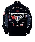 JH DESIGN Camaro Racing Cotton Black Jacket Size XLarge