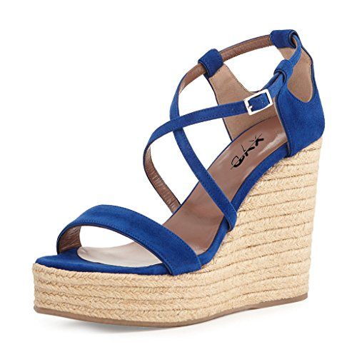 97990cd4e36e outlet XYD Casual Summer Wedges Shoes Open Toe Platform Strappy Espadrille  Sandals for Women