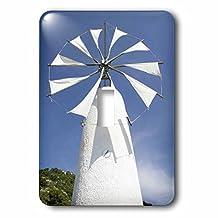 3dRose LSP _ 81900_ 1Grecia, Creta, Iraklio, Ano Kera, cretense molino EU12wbi1395Walter Bibikow Interruptor de botón único
