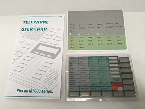 - The VoIP Lounge Replacement Button Pack with Labels & User Card for Nortel Norstar M7000 Series Phone M7310 M7324 M7208 M7100