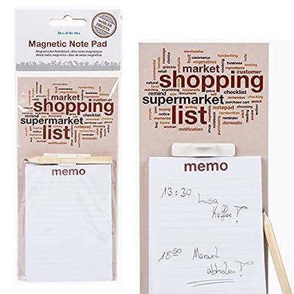 Magnético Memo Note Pad lápiz de lista de la compra imán para ...