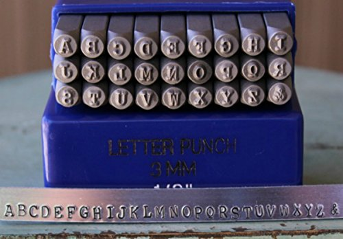 (3mm Typewriter Font Metal Stamp Alphabet Letter Set, Available in Uppercase, Lowercase or Combination Set (Uppercase (MD-3U)))