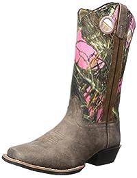Smoky Mountain 3449 Girl's Mesa Leather Boot Brown/Pink Camo