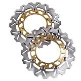 GZYF A Pair Front Brake Disc Rotors For YAMAHA YZF R6 99-...