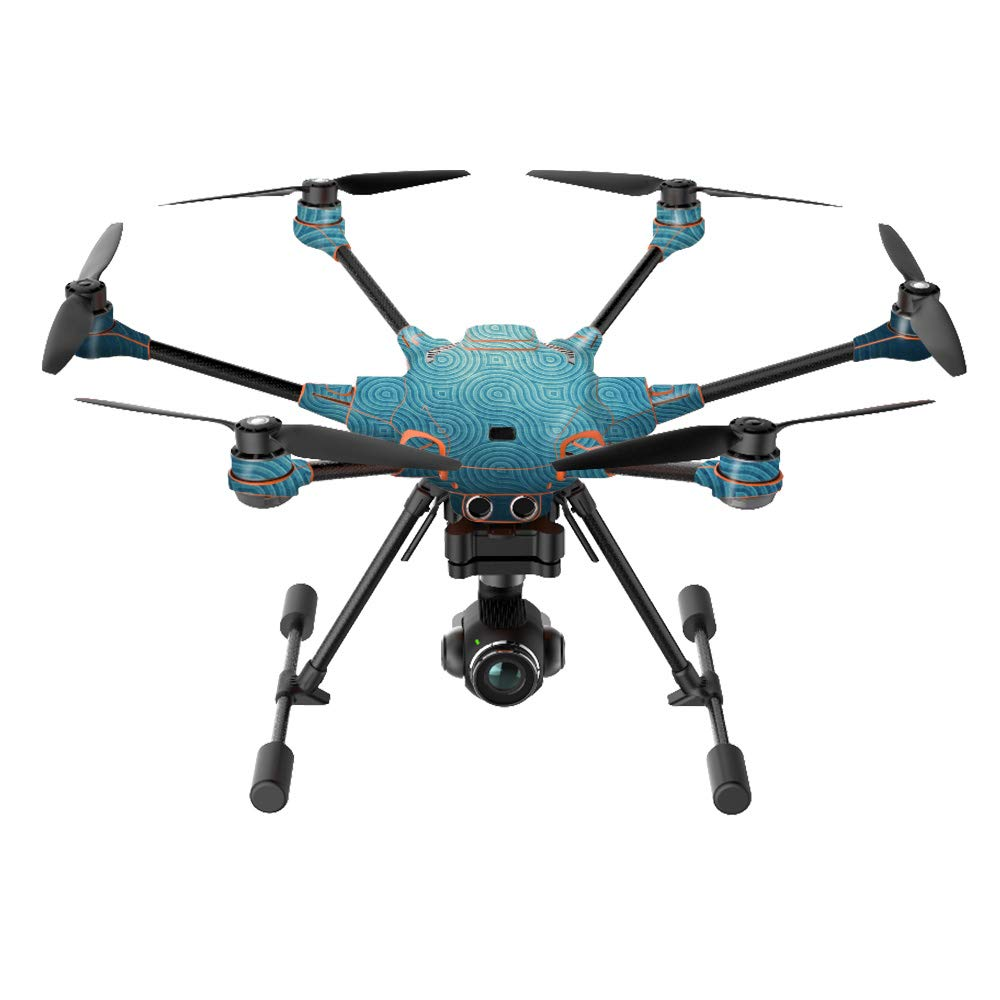 MightySkins Skin Compatible with Yuneec H520-G Quadcopter Drone - Blue Swirls | Protective, Durable, and Unique Vinyl Decal wrap Cover | Easy to Apply, Remove, and Change Styles | Made in The USA