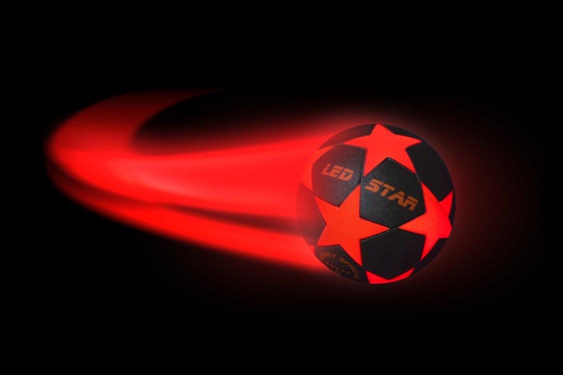 /¡pelota de futbol con luz NIGHT KICK LED STAR el regalo de final de f/útbol para j/óvenes y adultos Con esta bola de Campeones es su jefe!