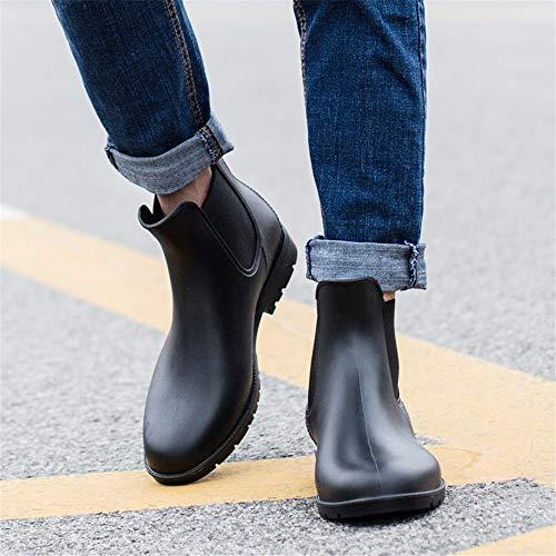 Casuales Hombres Hombre Bajas Impermeables Nieve Lluvia Para Chelsea Shoes Tube De Botas Low Zapatos q7gY44