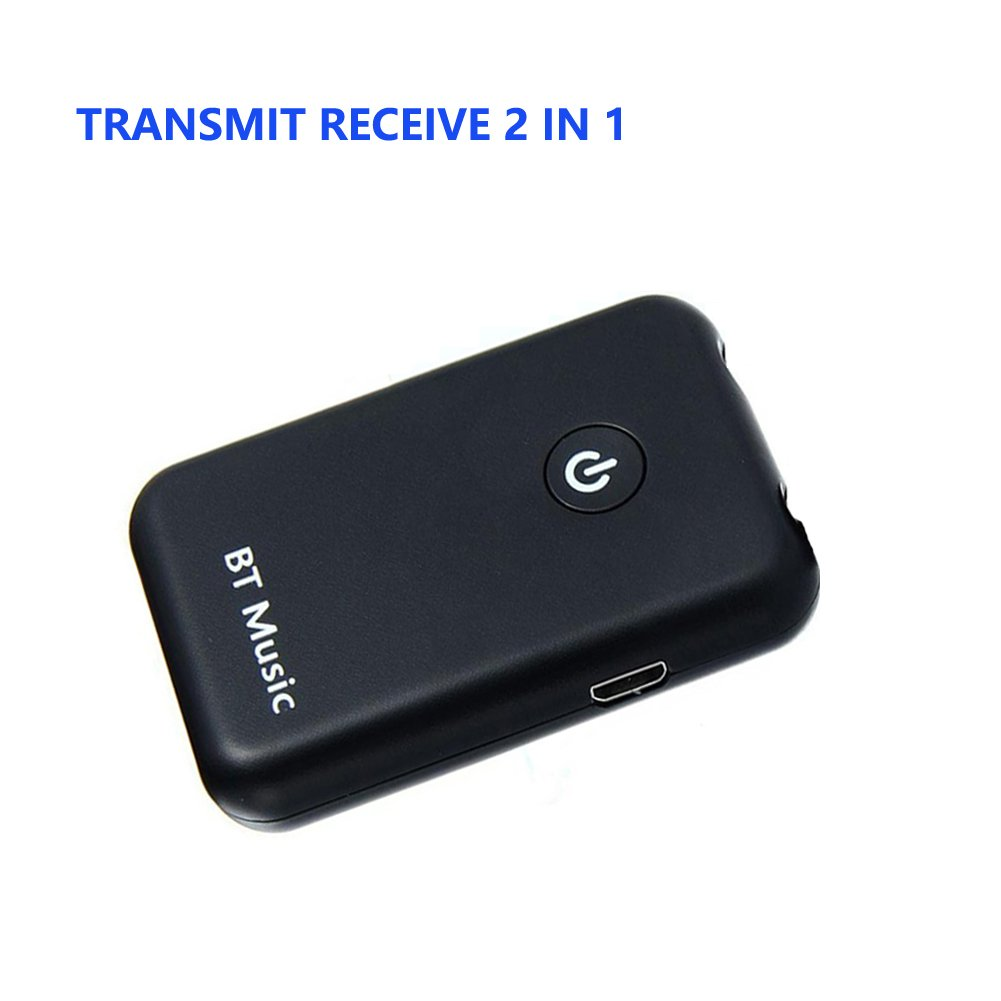 4.2 Bluetooth Receiver Transmitter 2 in 1 Wireless Bluetooth Adapter 3.5mm Audio Bluetooth Receiver for Car and Home Stereo Sound System Multi Useful Headphone Speaker AUX TV Computer