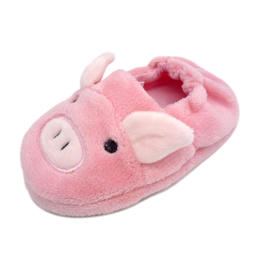 QGAKAGO Toddler Girl's Zebra Rabbit Cotton Warm Winter Non-Slip Slipper aa003