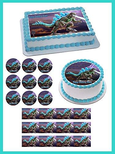 Godzilla Edible Cupcake Toppers - 2