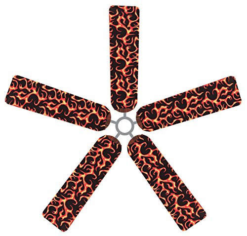 Fan Blade Designs Flaming Ceiling Fan Blade Covers by Fan Blade Designs