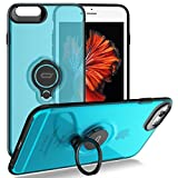 iPhone 6s / 6 Crystal Case with Ring Holder Kickstand Function, 360 Degree Rotating Ring Holder Grip Case Ultra Slim Thin Hard Cover for iPhone 6s / 6 (4.7inch) (Blue)