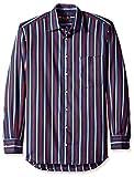 Gitman Blue Men's Stripe Spread Collar Sport Shirt, Navy, M