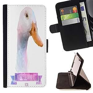 King Case - FOR HTC DESIRE 816 - Cute little ducks - Prima caja de la PU billetera de cuero con ranuras para tarjetas, efectivo Compartimiento desmontable y correa para la mu?eca