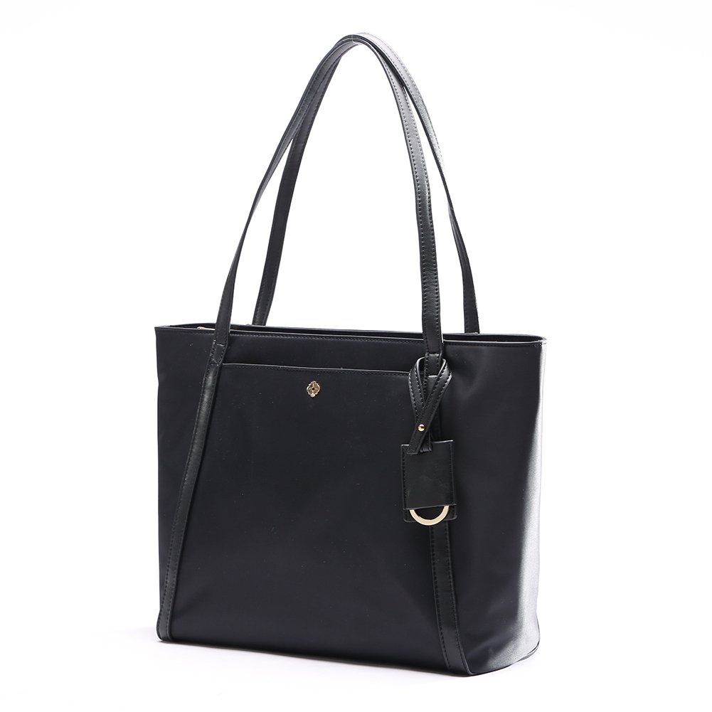Womens Tote Bags By MissFong, Women Handbags,Tote Bags For Women, Nylon Tote Bag Waterproof Top Handle Purse with Zipper Closure and RFID-Blocking(Black) FA16038-1
