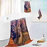 Miki Da bath towel accessories set Epic South West Canyon Before Sunrise Tribal National Landmark Wilderness Brown Multi-Purpose Hotel, Spa, Home, 19.7''x19.7''-13.8''x27.6''-31.5''x63''